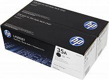 Тонер Картридж HP 35A CB435AF черный x2уп. (3000стр.) для HP LJ P1005/P1006