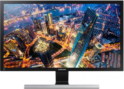 "Монитор Samsung 28"" U28E590D черный TN+film LED 16:9 HDMI матовая 370cd 170гр/160гр 3840x2160 DisplayPort Ultra HD 5.28кг (RUS)"