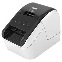 Принтер Brother QL-800 стационарный серебристый/черный