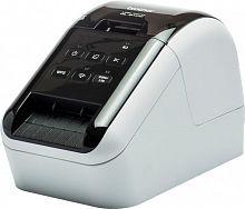 Принтер Brother QL-810W стационарный серебристый/черный