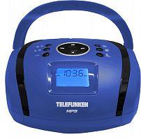 Аудиомагнитола Telefunken TF-SRP3449 синий 3Вт/MP3/FM(dig)/USB/SD/MMC