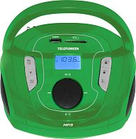 Аудиомагнитола Telefunken TF-SRP3471B зеленый 3Вт/MP3/FM(dig)/USB/BT/SD