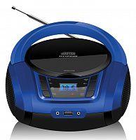 Аудиомагнитола Hyundai H-PCD340 черный/синий 4Вт/CD/CDRW/MP3/FM(dig)/USB/BT/SD/MMC/microSD