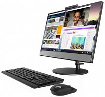 "Моноблок Lenovo V530-22ICB 21.5"" Full HD i5 8400T (1.7)/8Gb/1Tb 5.4k/UHDG 630/DVDRW/CR/Windows 10 Professional 64/GbitEth/WiFi/BT/90W/клавиатура/мышь/Cam/черный 1920x1080"