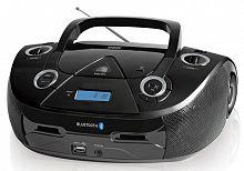 Аудиомагнитола BBK BX318BT черный 5Вт/CD/CDRW/MP3/FM(dig)/USB/BT