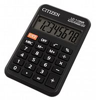 Калькулятор карманный Citizen LC-110NR черный 8-разр.