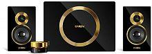 Колонки Sven MS-1086 2.1 черный/золотистый 48Вт