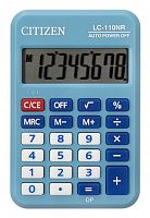 Калькулятор карманный Citizen Cool4School LC-110NRBL голубой 8-разр.