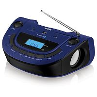 Аудиомагнитола BBK BS07BT синий 2Вт/MP3/FM(dig)/USB/BT