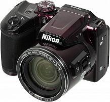 "Фотоаппарат Nikon CoolPix B500 фиолетовый 16Mpix Zoom40x 3"" 1080p SDXC/SD/SDHC CMOS 1x2.3 1minF turLCD VF HDMI/WiFi"