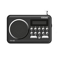 Радиоприемник портативный Сигнал РП-108 черный USB SD