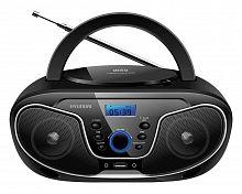 Аудиомагнитола Hyundai H-PCD140 черный/серый 4Вт/CD/CDRW/MP3/FM(dig)/USB