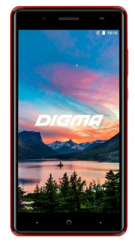 "Смартфон Digma HIT Q500 3G 8Gb 1Gb красный моноблок 3G 2Sim 5"" 480x854 Android 7.0 5Mpix WiFi GPS GSM900/1800 GSM1900 TouchSc MP3 FM microSD max32Gb"