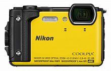 "Фотоаппарат Nikon CoolPix W300 желтый 16Mpix Zoom5x 3"" 4K 99Mb SDXC/SD/SDHC CMOS 1x2.3 50minF 30fr/s HDMI/KPr/DPr/WPr/FPr/WiFi/GPS/EN-EL12"