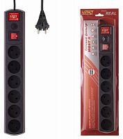 Сетевой фильтр Most R 5м (6 розеток) черный (коробка)