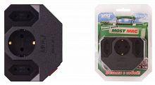 Сетевой фильтр Most MRG (3 розетки) черный (коробка)