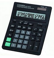 Калькулятор бухгалтерский Citizen SDC-664S черный 16-разр.