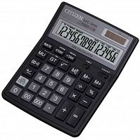 Калькулятор бухгалтерский Citizen SDC-395 N черный 16-разр.