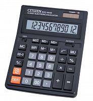 Калькулятор бухгалтерский Citizen SDC-444S черный 12-разр.