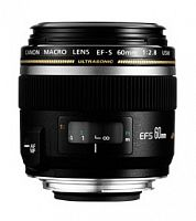 Объектив Canon EF-S USM (0284B007) 60мм f/2.8 Macro