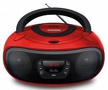 Аудиомагнитола Hyundai H-PCD280 красный/черный 4Вт/CD/CDRW/MP3/FM(dig)/USB/SD/MMC/microSD