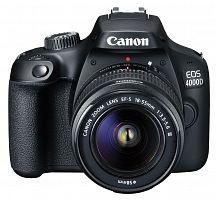"Зеркальный Фотоаппарат Canon EOS 4000D KIT черный 18Mpix 18-55mm f/3.5-5.6 2.7"" 1080p Full HD SDXC Li-ion (с объективом)"