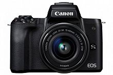 "Фотоаппарат Canon EOS M50 черный 24.1Mpix 3"" 4K WiFi 15-45 IS STM LP-E12 (с объективом)"