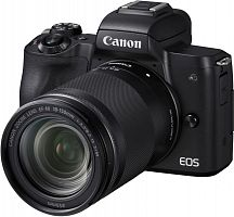 "Фотоаппарат Canon EOS M50 черный 24.1Mpix 3"" 4K WiFi 18-150 IS STM LP-E12 (с объективом)"