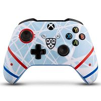 Геймпад Беспроводной Microsoft КХЛ Русский лед белый/серый для: Xbox One (TF5-00004-KHL-RI)