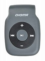 Плеер Digma P2 серый/черный/microSD/clip