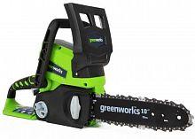 """Электрическая цепная пила Greenworks GD24CSK2 дл.шин.:10"""" (25cm)"""
