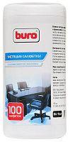 Салфетки Buro BU-Tsurl для пластиковых поверхностей и офисной мебели туба 100шт влажных