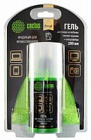 Чистящий набор (салфетки + гель) Cactus CS-S3004BL для экранов и оптики блистер 1шт 25х25см 200мл