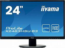 "Монитор Iiyama 24"" ProLite X2483HSU-B3 черный AMVA LED 4ms 16:9 HDMI M/M матовая 250cd 178гр/178гр 1920x1080 D-Sub DisplayPort FHD USB 3.9кг"