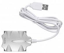 Разветвитель USB 2.0 Buro BU-HUB4-0.5-U2.0-Candy 4порт. серебристый