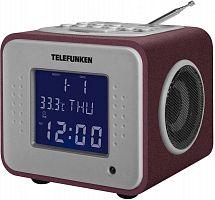 Радиоприемник настольный Telefunken TF-1575 бордовый USB SD/MMC