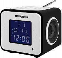 Радиоприемник настольный Telefunken TF-1575 черное дерево USB SD/MMC