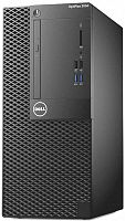 ПК Dell Optiplex 3050 MT i3 7100 (3.9)/4Gb/500Gb 7.2k/HDG630/DVDRW/Linux Ubuntu/240W/клавиатура/мышь/черный
