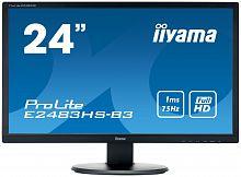 "Монитор Iiyama 24"" ProLite E2483HS-B3 черный TN+film LED 1ms 16:9 HDMI M/M матовая 1000:1 250cd 170гр/160гр 1920x1080 D-Sub DisplayPort FHD 3.5кг"