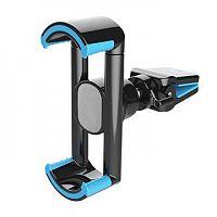 Держатель Wiiix HT-18V5 черный/голубой для смартфонов