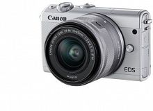 "Фотоаппарат Canon EOS M100 белый 24.2Mpix 3"" 1080p WiFi 15-45 IS STM LP-E12 (с объективом)"