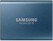 """Накопитель SSD Samsung USB-C 500Gb MU-PA500B/WW T5 1.8"""" синий"""