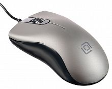 Мышь Oklick 375M серый оптическая (1000dpi) USB (2but)