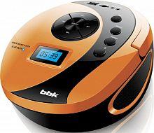 Аудиомагнитола BBK BS10BT черный/оранжевый 4Вт/MP3/FM(dig)/USB/BT/microSD