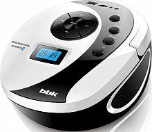 Аудиомагнитола BBK BS10BT белый/черный 4Вт/MP3/FM(dig)/USB/BT/microSD