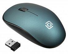 Мышь Оклик 515MW черный/зеленый оптическая (1200dpi) беспроводная USB (2but)