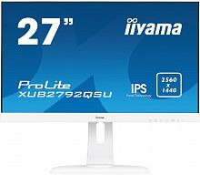 "Монитор Iiyama 27"" XUB2792QSU-W1 белый IPS LED 5ms 16:9 DVI HDMI M/M матовая HAS Pivot 350cd 178гр/178гр 2560x1440 DisplayPort QHD USB 6.1кг"