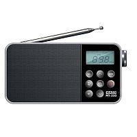 Радиоприемник портативный Сигнал РП-230 черный USB microSD