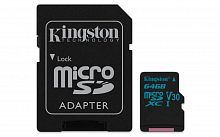 Флеш карта microSDXC 64Gb Class10 Kingston SDCG2/64GB Canvas Go + adapter
