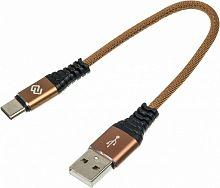 Кабель Digma USB A(m) USB Type-C (m) 0.15м коричневый